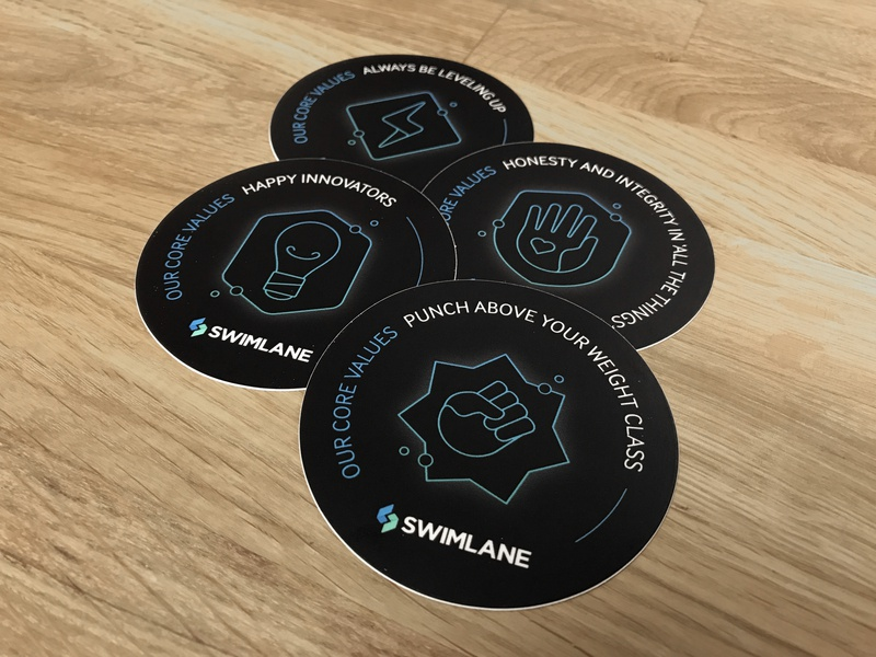 Swimlane Core Values core value branding