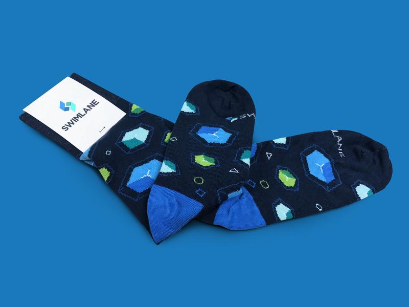 Upgrade your SOCs design branded collateral socks