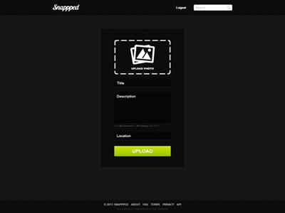 Snappped - Member Photo Upload Design upload design snappped member photo