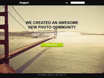 Snappped - Final Landing Page Design design page landing final snappped
