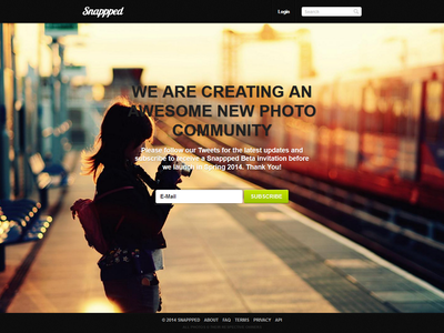 Snappped - Final Beta Subscribe Design final snappped beta design subscribe