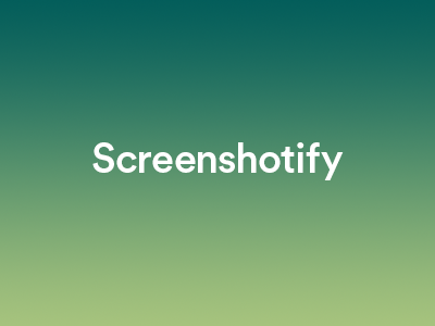 Screenshotify logo background