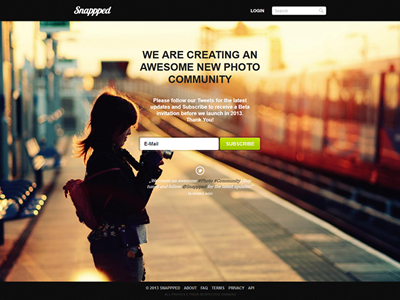 Snappped website beta subscribe design preview 01