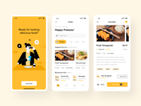 Food App mobile profile homepage food app illustration onboarding resto app food and drink japanese restaurant
