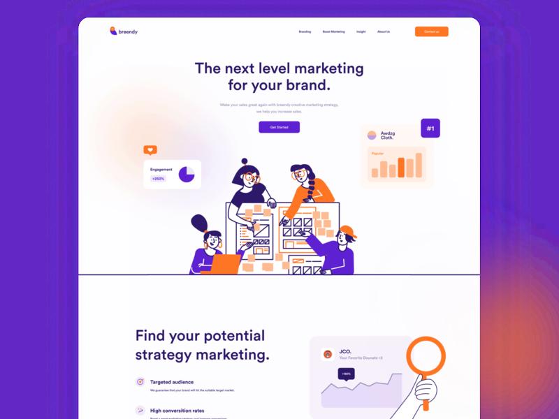 Marketing Agency Landing Page agency website dashboard landing page marketing agency landing page illustration product design web design mobile website