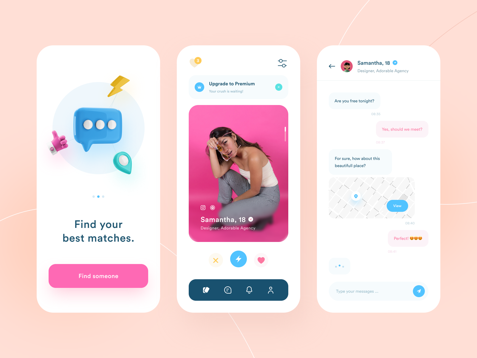 Crushonyou - Dating App Design