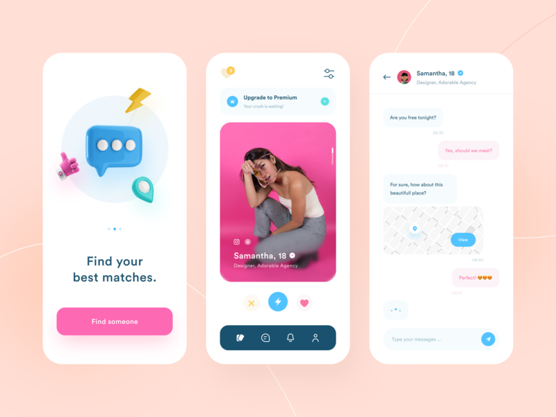 Crushonyou - Dating App Design onboarding app ui mobile ui app tinder mobile design mobile app mobile dating app dating