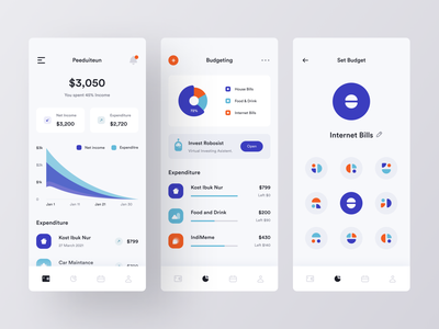 Personal Financial Manager - Mobile App app ui finance finance application investment money app banking finances personal finance banking app fintech fintech app financial finance app mobile app mobile design mobile app design app bank app