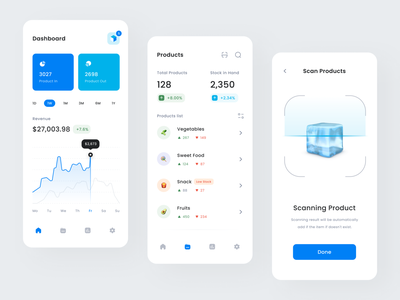 Stockey - Stock Management App Design product stock manage product inventory management product inventory inventory warehouse invent clean minimalist app design mobile mobile app app ui app app warehouse warehouse stock app inventory app product management