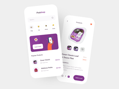 Pet Food and Product - Mobile App app design illustration website pet illustration 3d illustration dog food dog pet puppy dashboard pet adoption pet product pet care petshop mobile design mobile app mobile pet