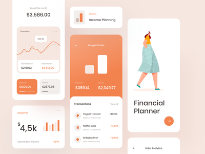 Monthly Budgeting Mobile App e-wallet financing statistics illustration dashboard mobile financial money wallet bank app bank budget finance app design app mobile app
