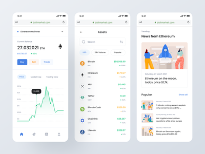 Cryptocurrency Mobile Responsive ethereum blog list transaction dashboard mobile design mobile app mobile wallet investment currency crypto wallet nft bitcoins ltc btc eth bitcoin cryptocurrency crypto