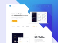 #Exploration Project Manager Landing Page - Odora Studio