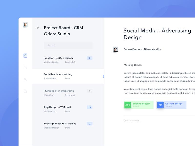Crm   mail dashboard