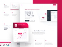 Saas Product - Landing page