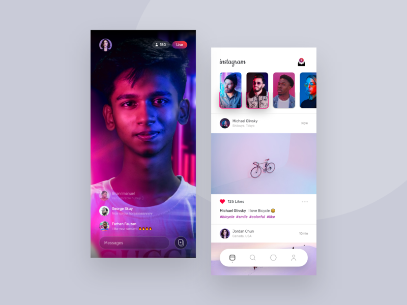Instagram userinterface landing page uiux app design branding website dashboard