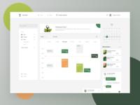Calendar Learning Management Dashboard