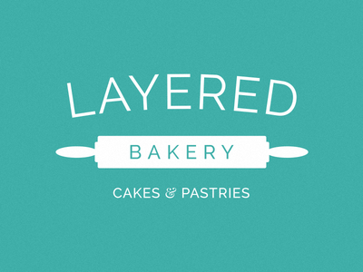 Layered Bakery layered pastries cakes rolling pin bakery logo