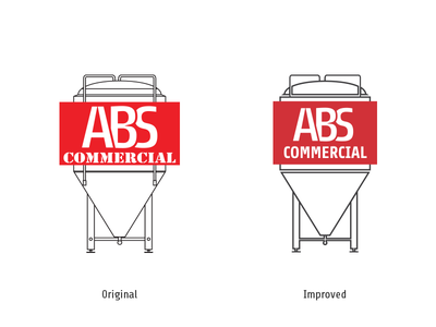 ABS Commercial brand commercial equipment brewing logo