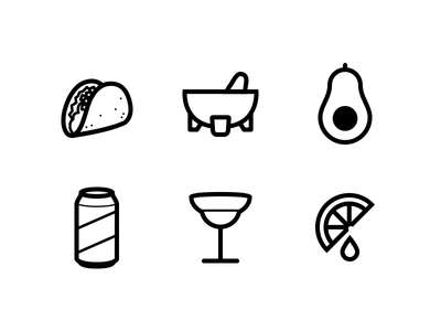 Taco Party Icons