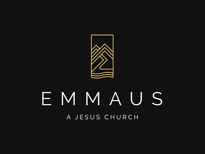 Emmaus Logo nc river sea path mountains church christian logo