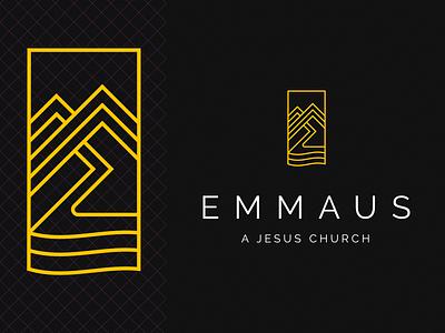 Emmaus Logo piedmont sea river path nc mountains logo church christian emmaus