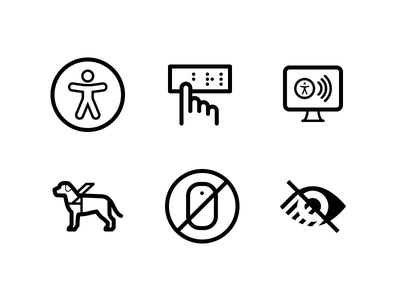 Accessibility Icons development web usability design inclusive a11y accessibility icons