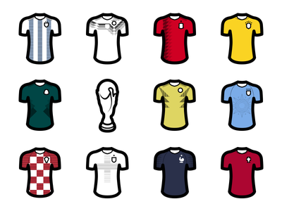 World Cup Icons football kits world cup uniforms jerseys icons soccer football