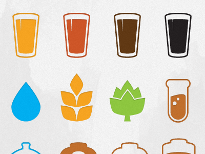 Beer Icons By Mark Caron Dribbble