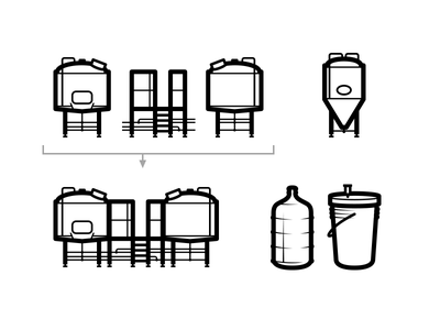 Brewing Icons craft brewery beer brewery brewing equipment brewhouse icons craft beer brewing homebrew