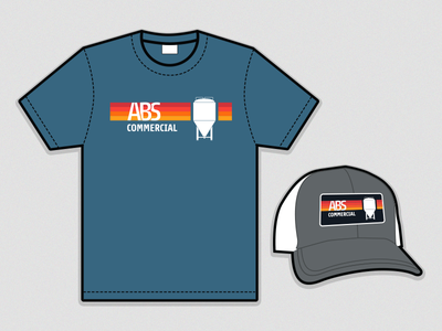 ABS Commercial T-Shirt & Trucker Hat brewing t-shirt t-shirt design hat trucker hat swag brewery brewing equipment brewing company