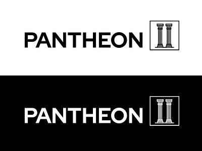 Pantheon II roman vector logo