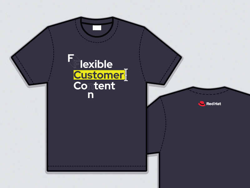 Flexible Customer Content swag design apparel shirt t-shirt