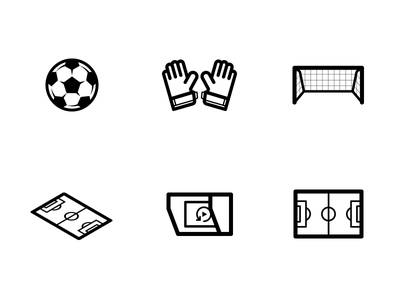 Soccer Icons var ball field pitch vector icons football world cup soccer