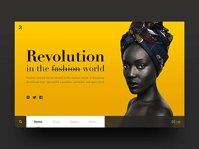 Web design - 02 2️⃣ web interface ui ux fashion photography yellow black dark blur web design