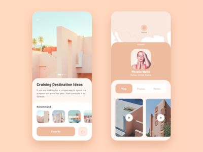 Travel App Concept ui app interface ios android mobile travel light concept