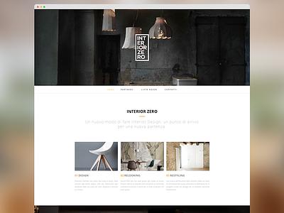 Interiorzero user interface design minimal-design web-design ux ui userinterface