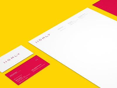Homly Brand Stationery business card logo a4 stationery brand identity