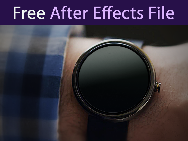 Google Watch AEP Freebie aep after effects google watch free freebie animation gif google android watch