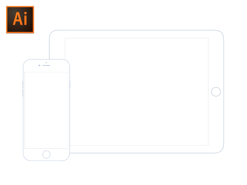 Illustrator iOS Wireframe Mockup by Christoph Fahlbusch on