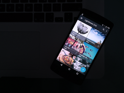 Android App screen mockup dark theme google fab nexus material design android interface ui