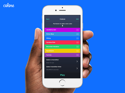 Color Playlist | Colore ui ios iphone app color