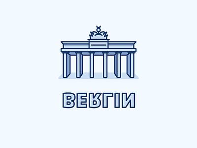 Berlin ai illustrator iconset icons light blue vector berlin icon illustration outline
