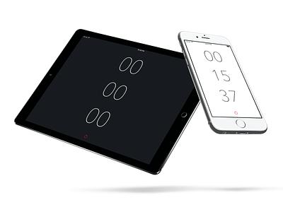 Minimal Stopwatch iOS App itunes ui design code xcode swift ipad iphone stopwatch app ios