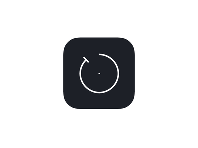 Minimal Timer iOS App Icon app icon ios icon icon app illustrator timer countdown simple minimal