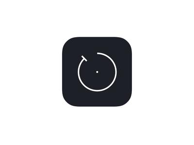 Minimal Timer iOS App Icon