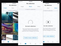 Shutterstock iOS Design Concept - My Collections Screens