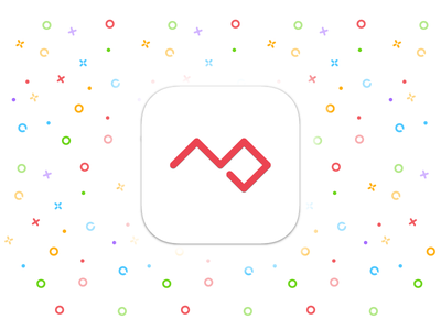 iOS App Icon colors colorful illustrator logo iconography glyph red pattern icon ios personal project project