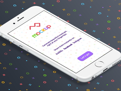 """iPhone Start-Screen for """"mockup"""" pattern coding xcode colors mockup iphone app ios personal project"""
