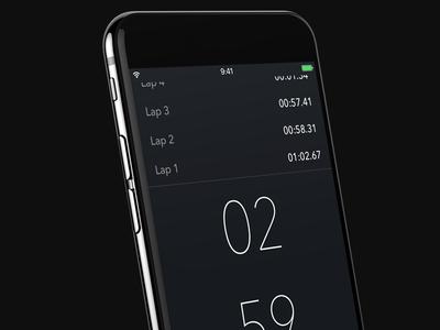 Minimal Stopwatch iOS App